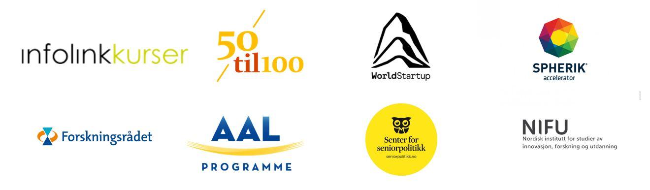 Bilder av logoer til AAL Smart SE
